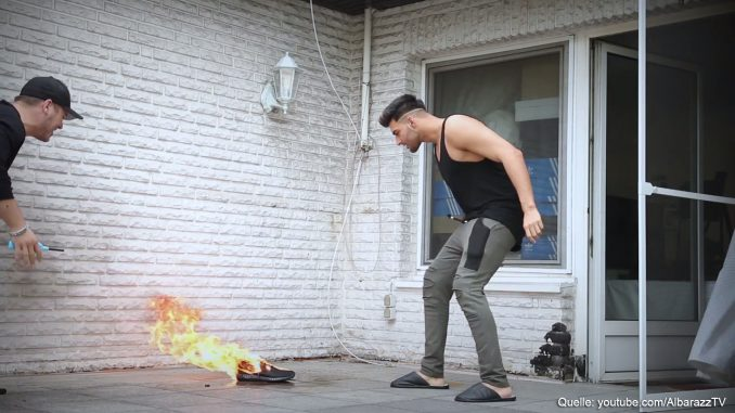 1.000€ Schuhe von ApoRed verbrannt (Prank)